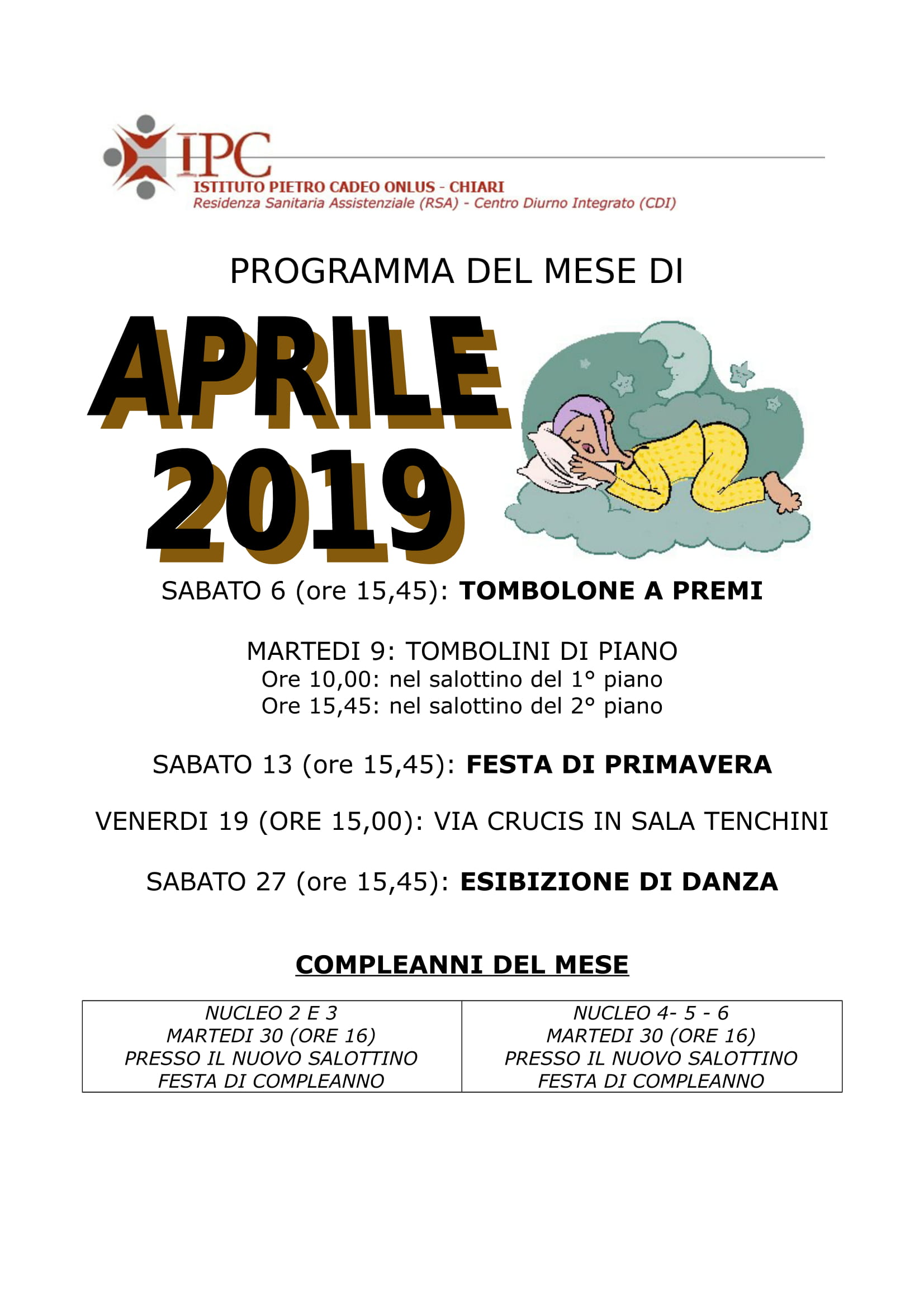 PROGRAMMA APRILE 2019-1