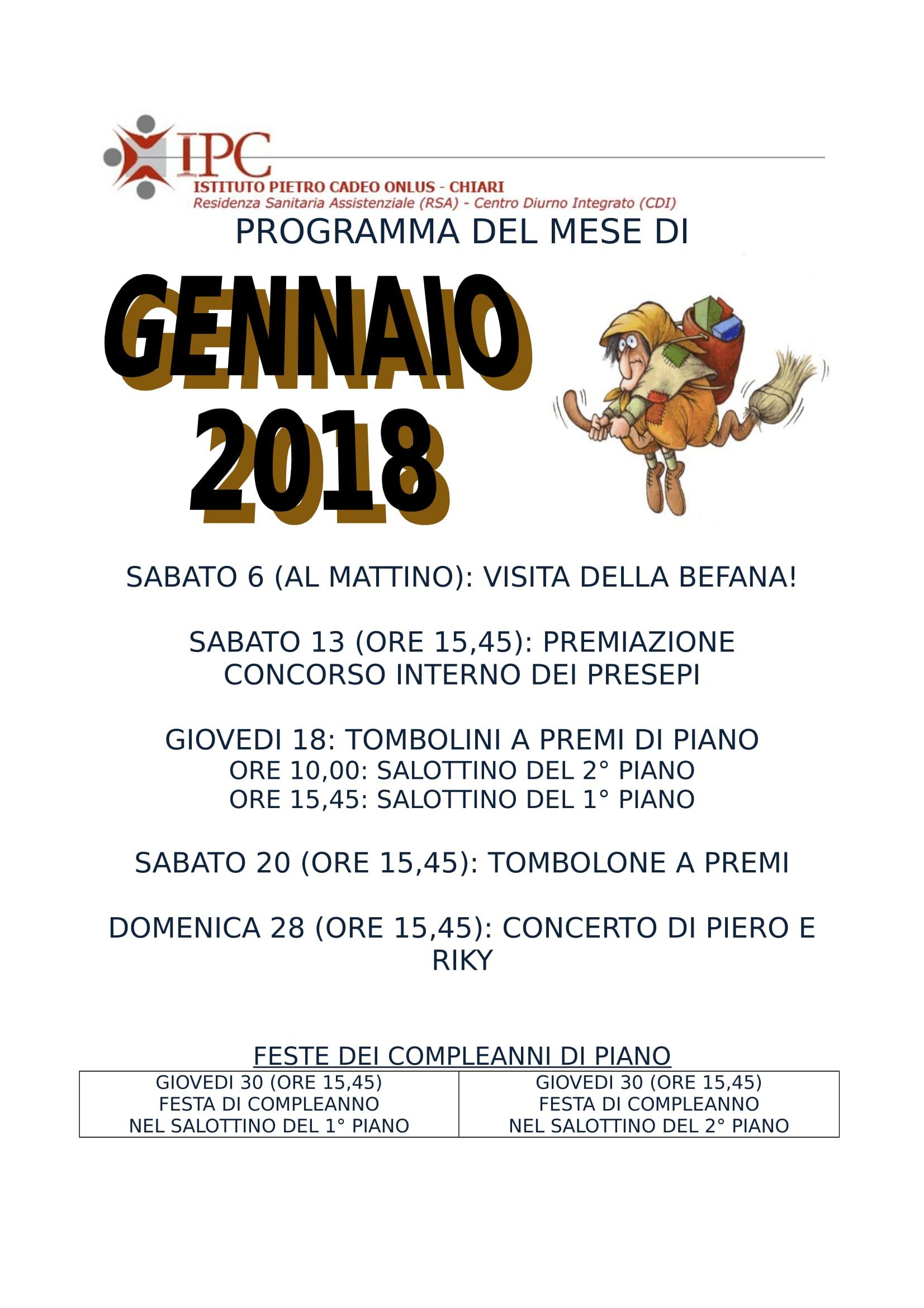 PROGRAMMA GENNAIO 2018-1
