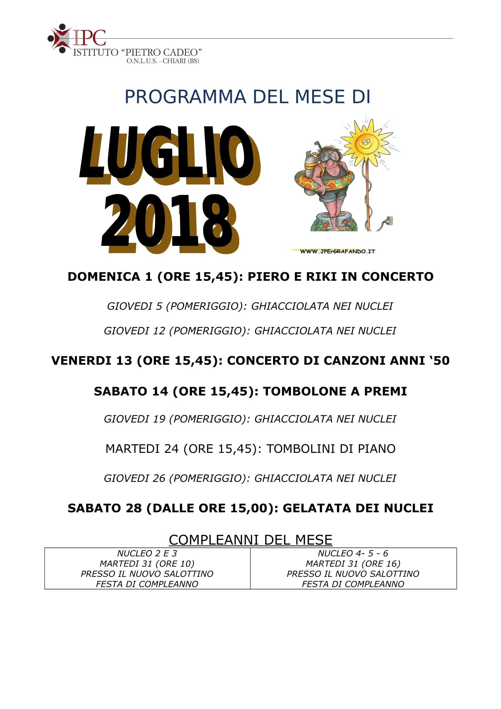 PROGRAMMA LUGLIO 2018-1