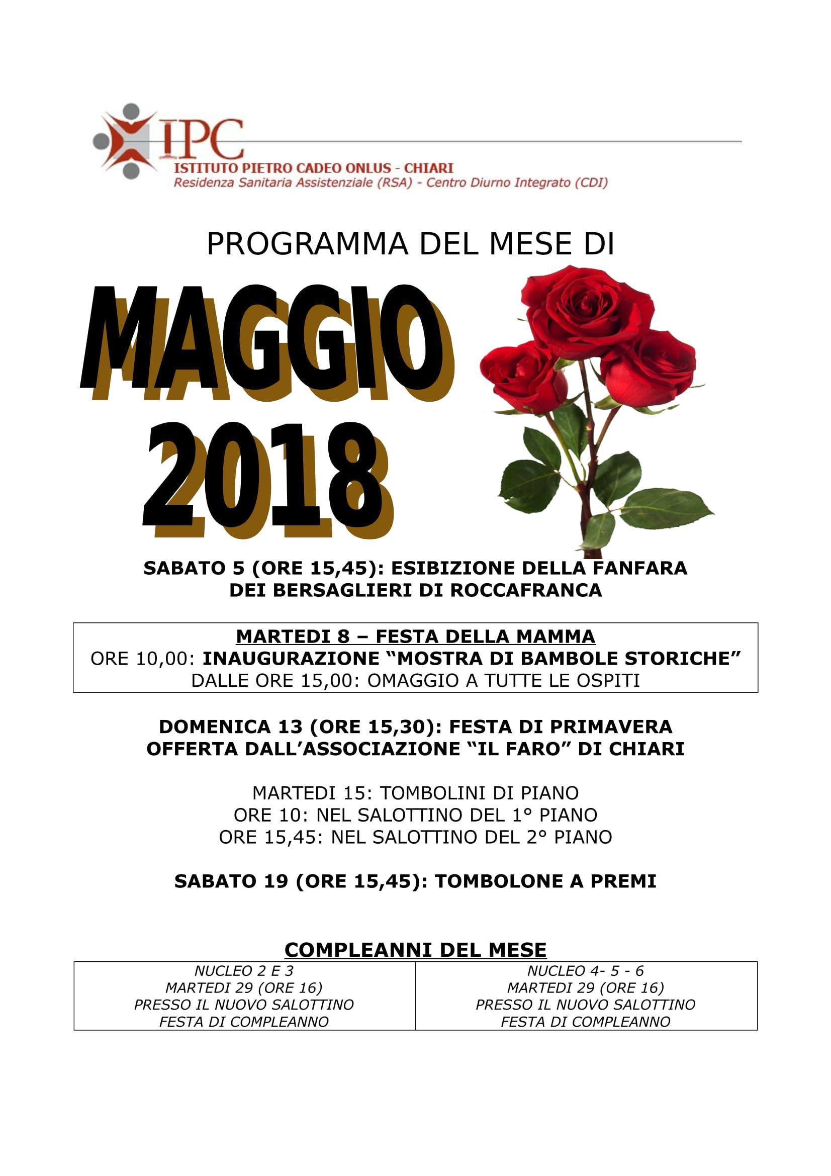 PROGRAMMA MAGGIO 2018-1