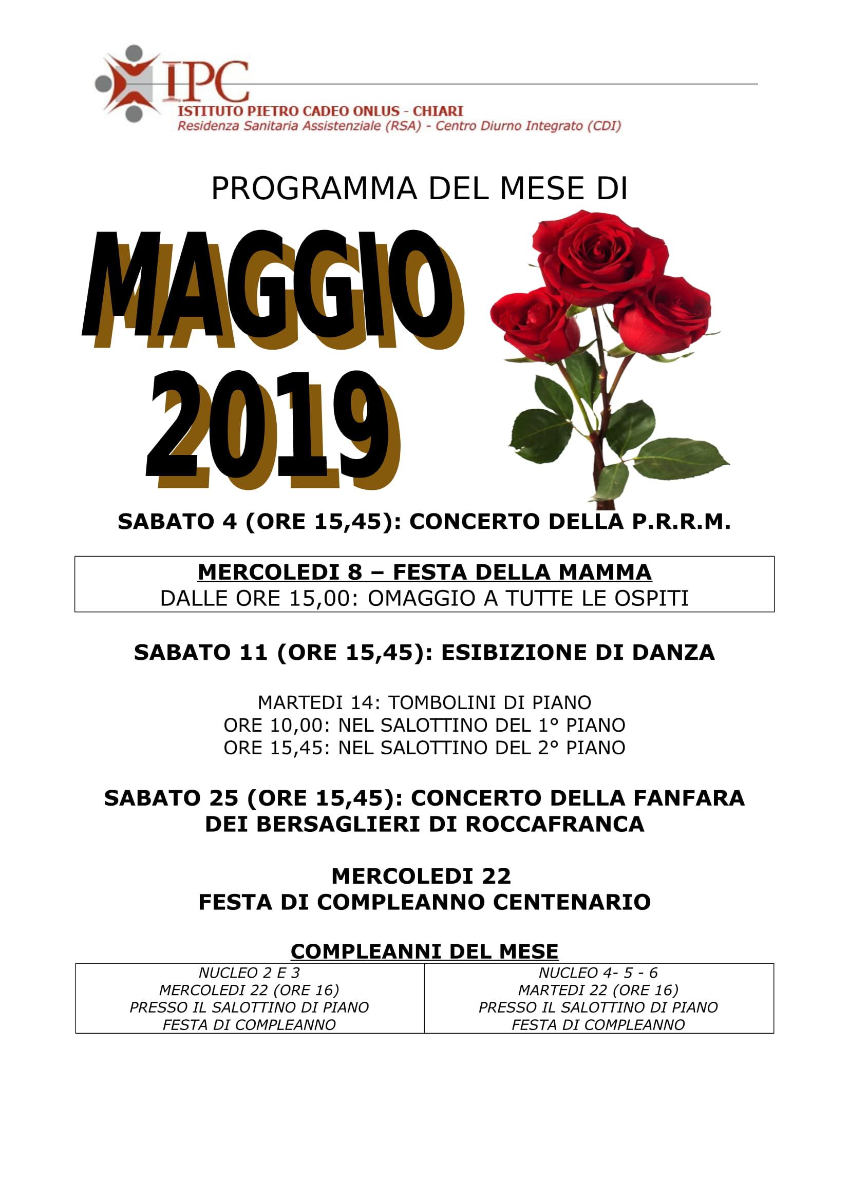 PROGRAMMA MAGGIO 2019-1