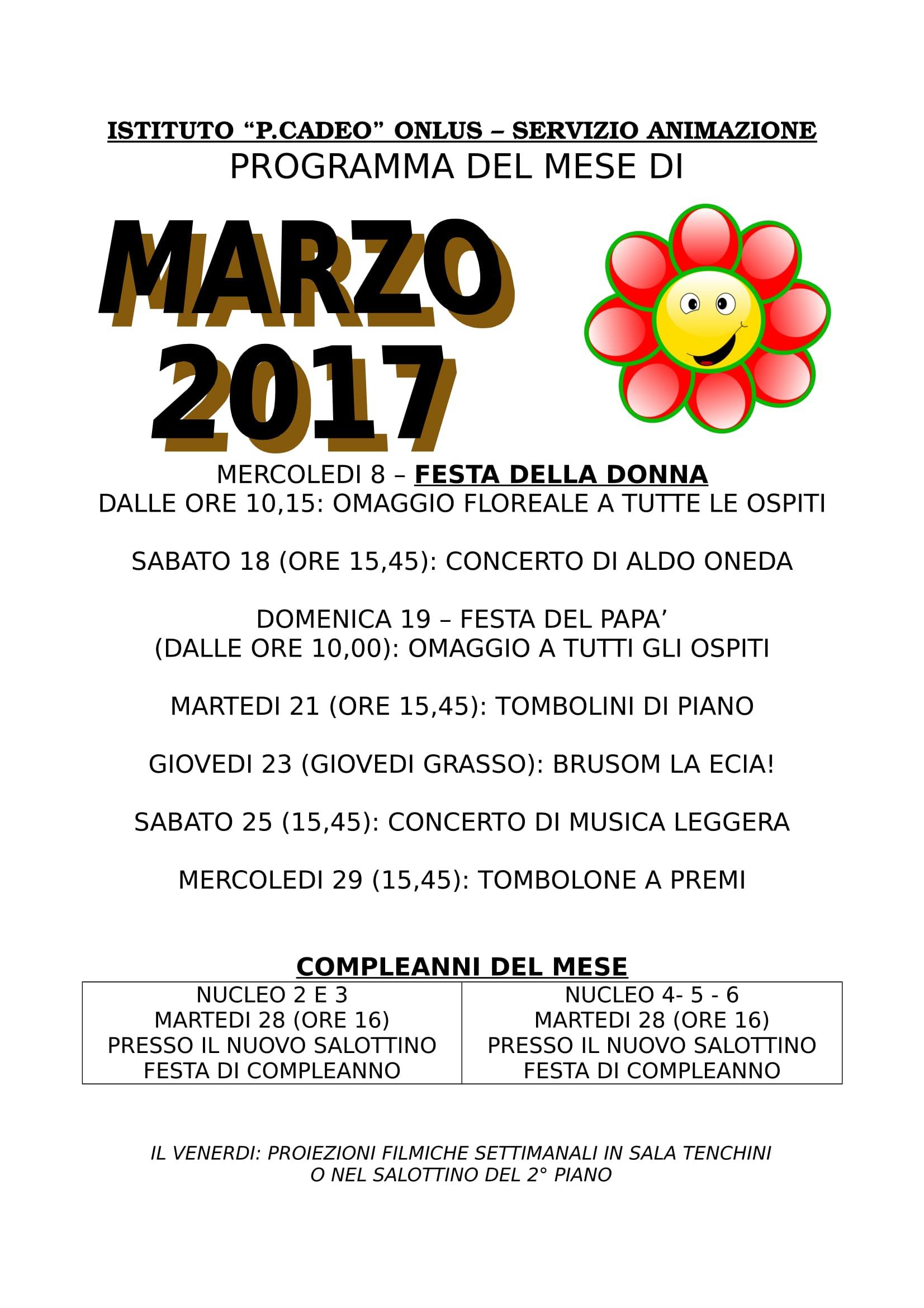 PROGRAMMA MARZO 2017-1